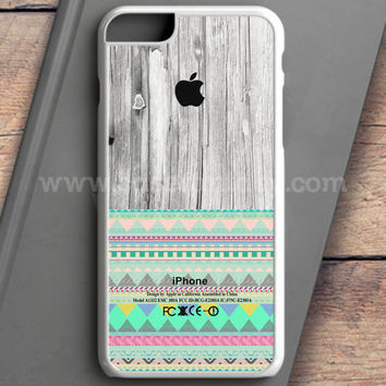 Skin Aztec Geometric Pattern On Wood iPhone 6S Plus Case | casefantasy