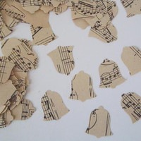 200 music vintage bell sheet music paper wedding confetti recycled upcycled chrstmas diy party favor scrapbook garland decor lasoffittadiste