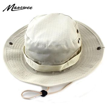 Military Bucket Hats Fishing Fisherman Hunting Men Adult Safari Protection Hunter Mountain Cap With Wide Brim Sun Climbing Cap