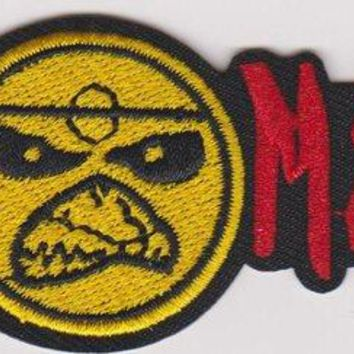 Iron Maiden Iron-On Patch Red Letters Face Logo