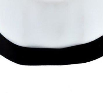 Plain Black Velvet Gothic Choker Necklace