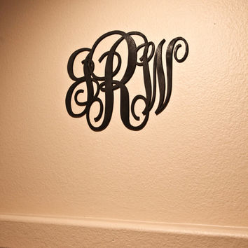 Custom Engraved Wood Initals Monogram Wall Decor