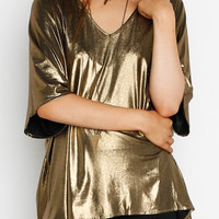 """Fever"" Oversized Shimmer Top"