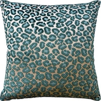 Cheetah Velvet Emerald Pillow