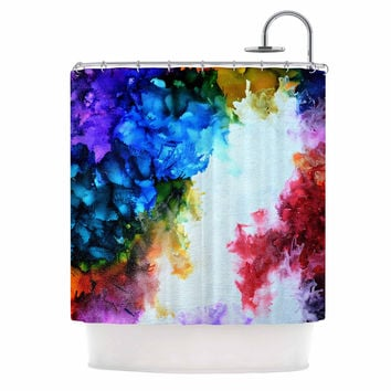 "Claire Day ""Fiona"" Rainbow Painting Shower Curtain"