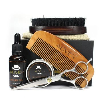 Men Beard Care Grooming Trimming Kit Unscented Beard Conditioner