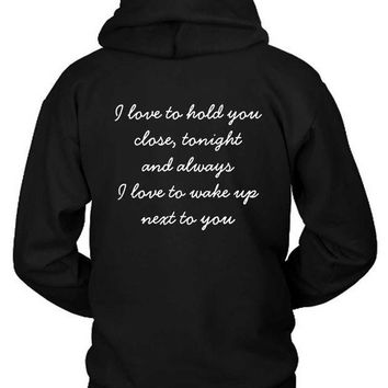 ICIK7H3 Zayn Pillowtalk Quote Hoodie Two Sided