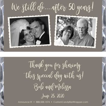 We Still Do Anniversary Candy Bar Wrappers
