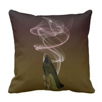 Smokin' Stiletto High Heel Shoe Art Pillow