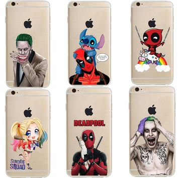 Deadpool Dead pool Taco DC  2 Harley Quinn Super Marvel Soft Silicone TPU Phone Case Cover For iPhone X 10 7 8 Plus 6 6s Plus 5 5s SE AT_70_6