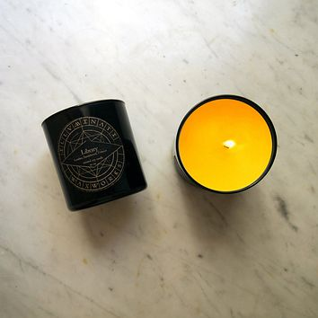 Library Scented Soy Candle in Black Glass Tumbler