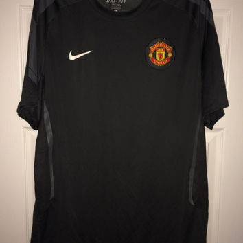 Sale!! Vintage Nike MANCHESTER UNITED training soccer jersey MUFC Football shirt
