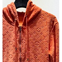 LV Louis Vuitton Autumn Winter Fashion Casual Hooded Zipper Cardigan Sweater Jacket Coat