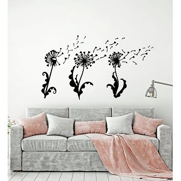 Vinyl Wall Decal Abstract Dandelion Flower Girl Room Floral Art Stickers Mural (g1775)