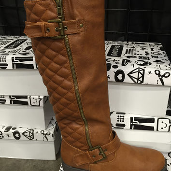 Buckle Riding Boots in Chestnut