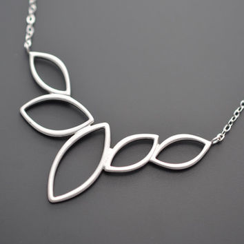 20% OFF CHRISTMAS SALE - Modern Marquise Pendant Necklace