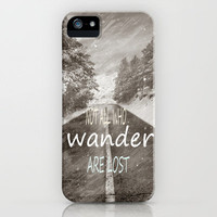 Not all who wander are lost. Mountains iPhone Case by Guido Montañés | Society6