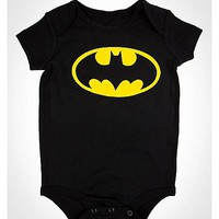Batman Logo Baby Bodysuit - Spencer's