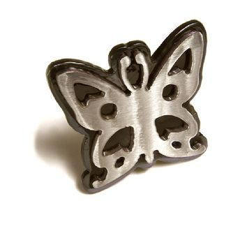 Watto Distinctive Metal Wear Belt Buckle - Flirty Butterfly Belt Buckle.