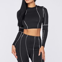 Piping Hot Two Piece Biker Short Set
