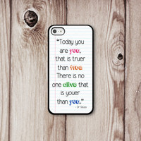 Dr Seuss Iphone Case - Iphone 4 - Iphone 4s - Iphone 5 - Iphone Cover - Inspirational Phone Cases by Luv Your Case (170)
