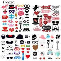 Tronzo Wedding DIY Decoration Photo Booth Props Funny Glasses Mustache Birthday Party Supplies Photobooth Favor 22/27/31Pcs