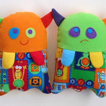 Stuffed Monster Toy Pattern - PDF Sewing Pattern for Plush Monster-Monster Helps Children Show Feelings Washable Cloth Soft Toy