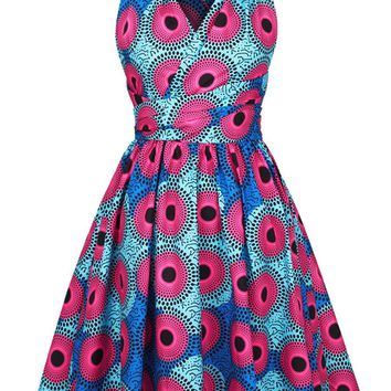 Streetstyle  Casual Special Multi-Way Printed Skater Dress