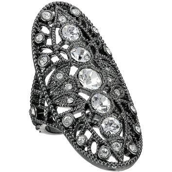 House of Harlow by Nicole Richie Womens Crystal Pave Oval Fashion Ring