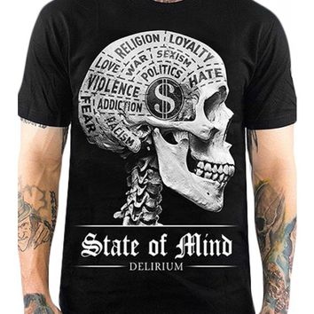 Skygraphx Men's State Of Mind T-Shirt - Black