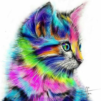 Diy Diamond Painting Animals Squirrel Cat 7color 5d Square Diamond Embroidery Cross Stitch Kit Diamond Paint Full Embroidery