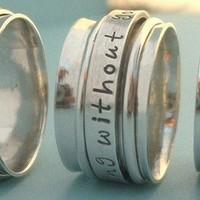 Spinner Ring Personalized with Name Sterling by TwinklingElegance