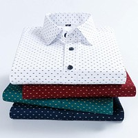 High Quality 100% Cotton Men's Printed Dress Shirts Fashion New Plus Size 4XL Male Social Long Sleeve Soft Smart Casual Shirt