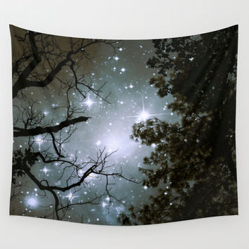 Trees Wall Tapestry, Stars Tapestry, Night Sky Home Decor, Nature Tapestry, Wall Tapestry, Home Decor,Whimsical Tree Branches,Woodland,Woods