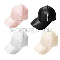 FAUX LEATHER SNAPBACK
