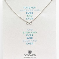 Women's Dogeared 'Reminder - Forever and Ever' Boxed Infinity Pendant Necklace