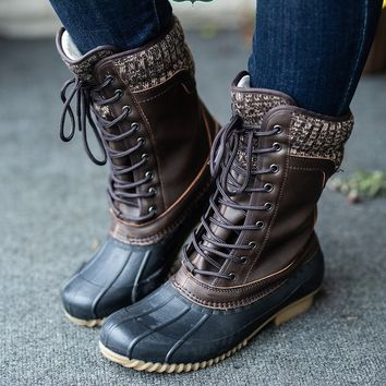 The Hunter Duck Boots - Black/Brown