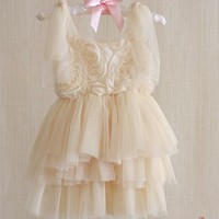 Rosette Tiered Tutu Dress - Over the Loom