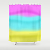 Ombre Purple Blue Yellow Colors Shower Curtain by Tees2go