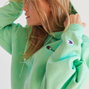Champion & UO Powerblend Mini Logo Hoodie Sweatshirt - Mint Green One-nice™