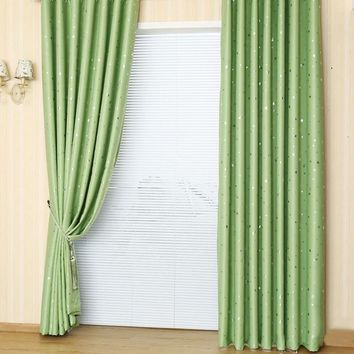 Fashion Modern Printed Stars Blackout Window Curtains Boys Girls Home Textile Lovely Bedding Room Shade Eyelet Drapes