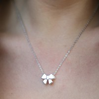 Bow-Tie Only Necklace in Silver