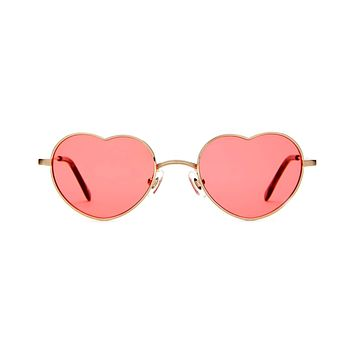 Crap Eyewear - Doctor Love Brushed Gold + Dark Tortoise Sunglasses / Cherry Lenses
