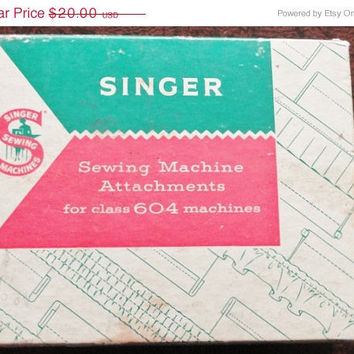 Vintage Ephemera Singer Sewing Machine Attachment Parts