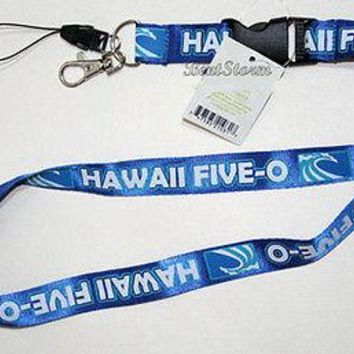 Licensed cool ALOHA Hawaii FIVE O POLICE Lanyard Key Holder Phone FOB Quick Release Keychain