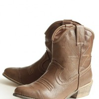 yasmine ankle cowboy boots at ShopRuche.com