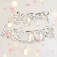 Happy Holidays Balloon Banner Kit