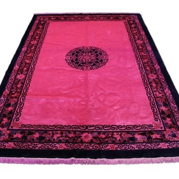 6x9 Pink Overdyed Peking Deco Rug 2814