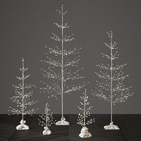 Northern Lights Starlit Tree Collection - Silver