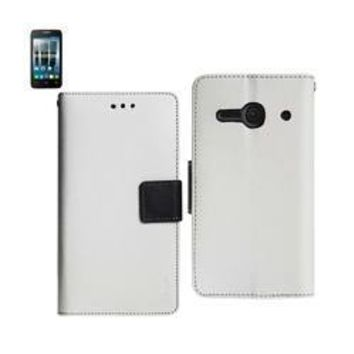 REIKO ALCATEL ONE TOUCH EVOLVE 2 3-IN-1 WALLET CASE IN WHITE